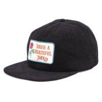 GO WEST ゴーウェスト|GRATEFUL DAY CORDUROY CAP (ブラック)(キャップ)