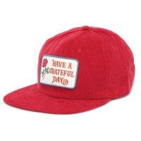 GO WEST ゴーウェスト|GRATEFUL DAY CORDUROY CAP (レッド)(キャップ)