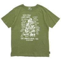 GO HEMP ゴーヘンプ|HEMP TREE 25th PRINT TEE (ライムグリーン)(プリントTEE)
