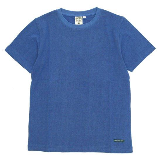 A HOPE HEMP アホープヘンプ Regular S/S Tee (インディゴ)(ヘンプコットン Tシャツ)