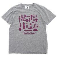 TACOMA FUJI RECORDS タコマフジレコード|THROBBING BUMS TEE (ヘザーグレイ)(プリントTシャツ)