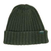 GO HEMP ゴーヘンプ|RIB WATCH CAP (ワイルドグリーン)(ニット帽 コットンニット)
