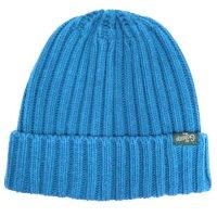 GO HEMP ゴーヘンプ|RIB WATCH CAP (ブルーブルー)(ニット帽 コットンニット)