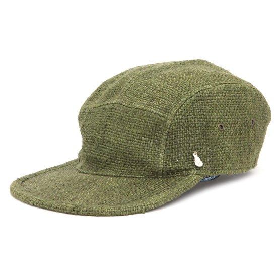 GO HEMP ゴーヘンプ LATHUN CAP (カーキ)(ヘンプ100%)