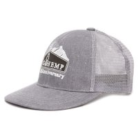GO HEMP ゴーヘンプ|ANNIVERSARY LOGO MESH CAP (グレイ)(メッシュキャップ)