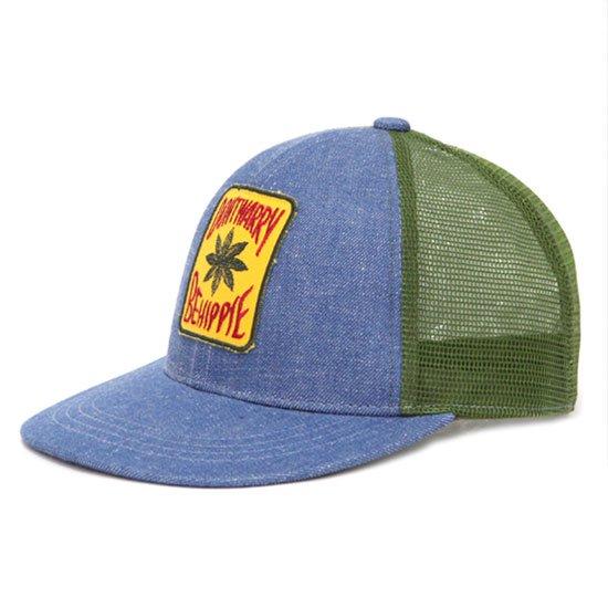 GO HEMP ゴーヘンプ|DON'T WORRY LEAF MESH CAP (ブルー)(メッシュキャップ)