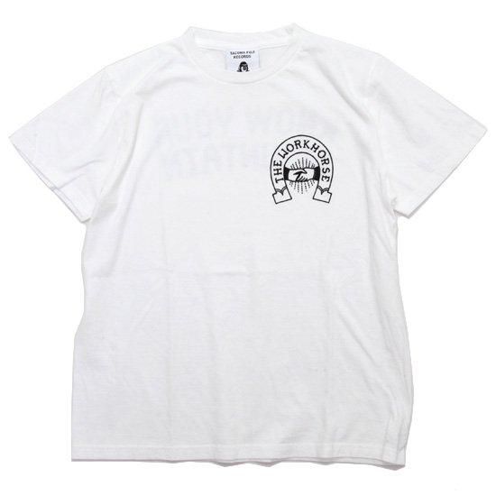 TACOMA FUJI RECORDS タコマフジレコード|THE WORKHORSE LOGO TEE (ホワイト)(プリントTシャツ)