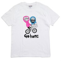 chi-bee チービー |Go home TEE (ホワイト)(プリントTシャツ)