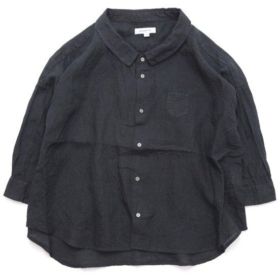 ORDINARY FITS オーディナリーフィッツ|レディース BARBAR SHIRT linen (ブラック)(バーバーシャツ)