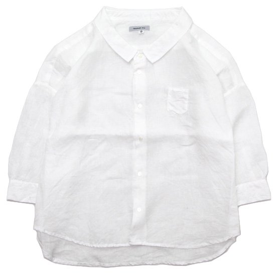 ORDINARY FITS オーディナリーフィッツ|レディース BARBAR SHIRT linen (オフ)(バーバーシャツ)