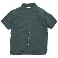 SPINNER BAIT スピナーベイト|グランジウォッシュ 半袖 昭和シャツ (グリーン)(半袖シャツ)