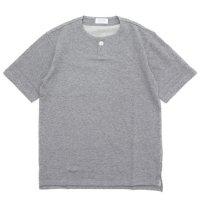 SPINNER BAIT スピナーベイト|ミニ裏毛 1ボタン ヘンリー (グレイ)(Tシャツ)