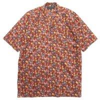COOCHUCAMP クーチューキャンプ|Happy Open Collard Shirt (ワイン)(半袖シャツ)