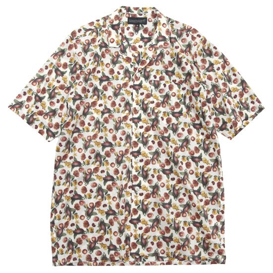 COOCHUCAMP クーチューキャンプ|Happy Open Collard Shirt (ホワイト)(半袖シャツ)