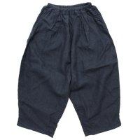 ORDINARY FITS オーディナリーフィッツ|レディース BALL PANTS linen (ブラック)(ボールパンツ リネン)