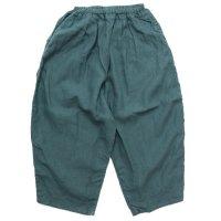 ORDINARY FITS オーディナリーフィッツ|レディース BALL PANTS linen (グリーン)(ボールパンツ リネン)