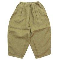 ORDINARY FITS オーディナリーフィッツ|レディース BALL PANTS linen (キャメル)(ボールパンツ リネン)