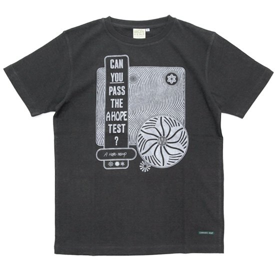 A HOPE HEMP アホープヘンプ|A Hope Test S/S Tee (オールドブラッキー)(ヘンプコットン Tシャツ)