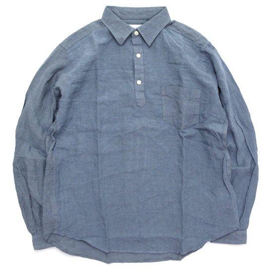 SPINNER BAIT スピナーベイト グランジウォッシュ ラモスシャツ (ブルーグレイ)(長袖シャツ)
