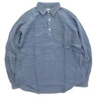 SPINNER BAIT スピナーベイト|グランジウォッシュ ラモスシャツ (ブルーグレイ)(長袖シャツ)