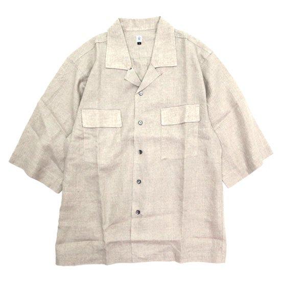 HiHiHi ひひひ 五分袖 カイキンシャツ (生成り)(開襟シャツ)