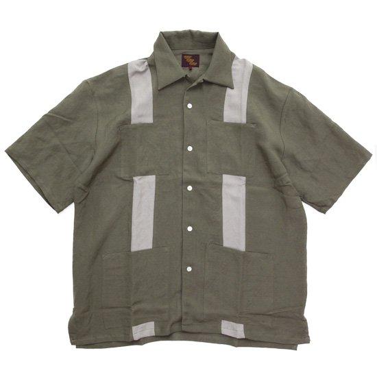Phatee ファティ CUBE SHIRTS (オリーブ)(キューバシャツ)