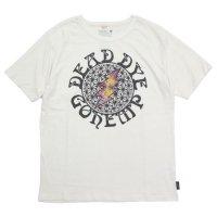 GO HEMP ゴーヘンプ|DEAD DYE ASAGARA BOLT S/SL TEE (ナチュラル)(タイダイ プリントTシャツ)