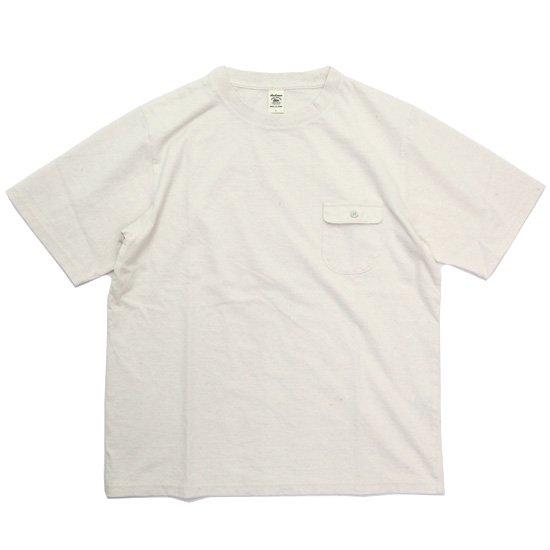 Jackman ジャックマン|JM5850 Pocket T-shirt (生成り)(ポケTEE)