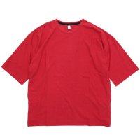HiHiHi ひひひ|5分袖 ポケット Tee (アカ)(Tシャツ)