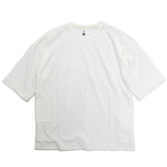 HiHiHi ひひひ 5分袖 ポケット Tee (シロ)(Tシャツ)