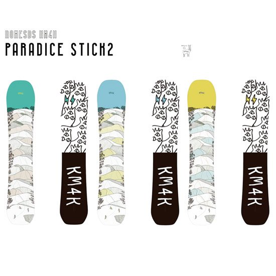 KM4K カモシカ|PARADICE STICK 2 (スノーボード)