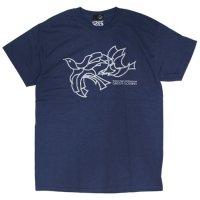 GREEN CLOTHING グリーンクロージング|#6 PIGEON TEE (インディゴ)(プリントTシャツ)