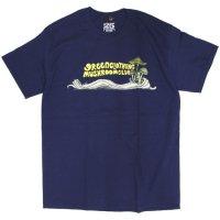 GREEN CLOTHING グリーンクロージング|#5 CLUB TEE (ネイビー)(プリントTシャツ)