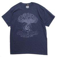GREEN CLOTHING グリーンクロージング|#4 CATERPILLAR TEE (ネイビー)(プリントTシャツ)