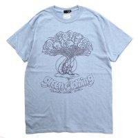 GREEN CLOTHING グリーンクロージング|#4 CATERPILLAR TEE (ストーンブルー)(プリントTシャツ)