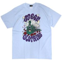 GREEN CLOTHING グリーンクロージング|#2 Green Clothing Train TEE (ライトブルー)(プリントTシャツ)