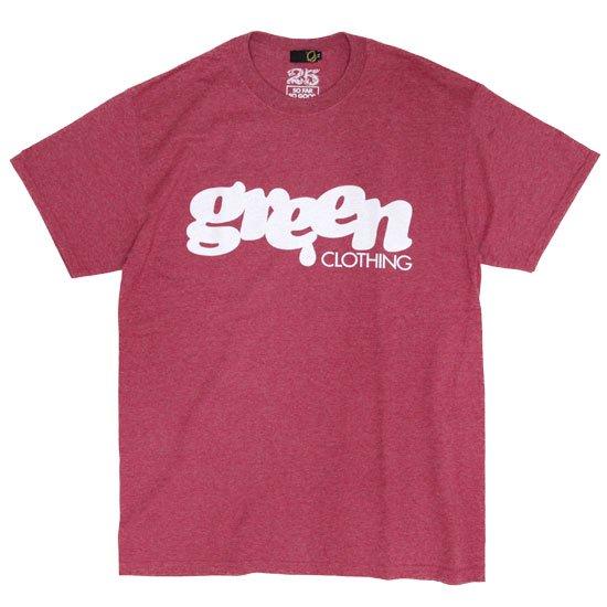 GREEN CLOTHING グリーンクロージング #1 LOGO TEE (ヘザーレッド)(プリントTシャツ)