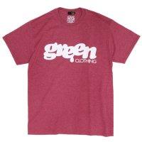 GREEN CLOTHING グリーンクロージング|#1 LOGO TEE (ヘザーレッド)(プリントTシャツ)