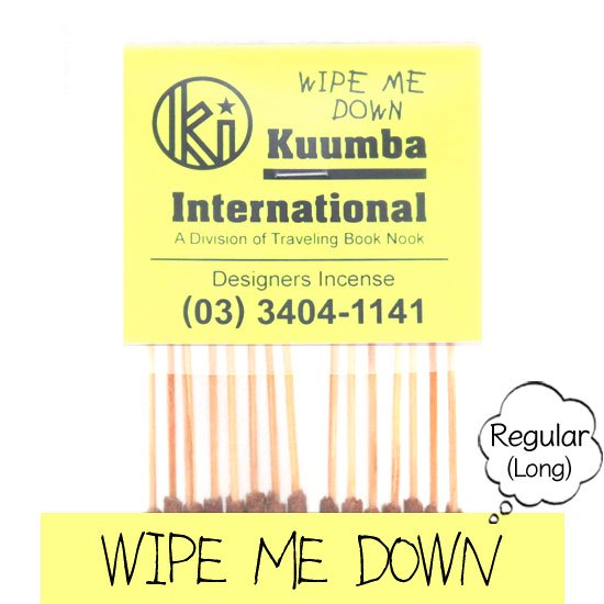 KUUMBA クンバ INCENSE regular (WIPE ME DOWN)(お香 レギュラーサイズ)