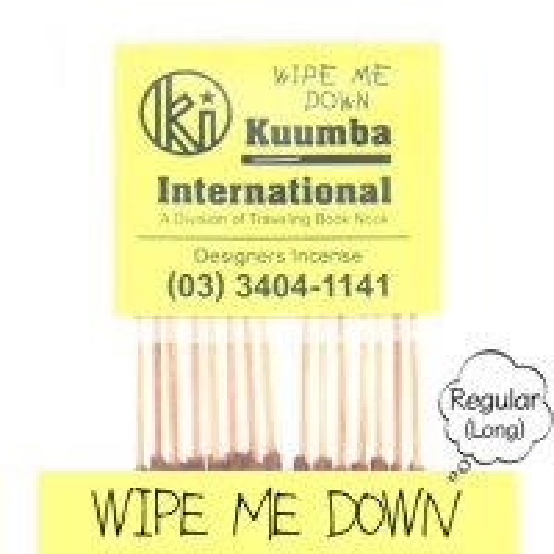 KUUMBA クンバ|INCENSE regular (WIPE ME DOWN)(お香 レギュラーサイズ)