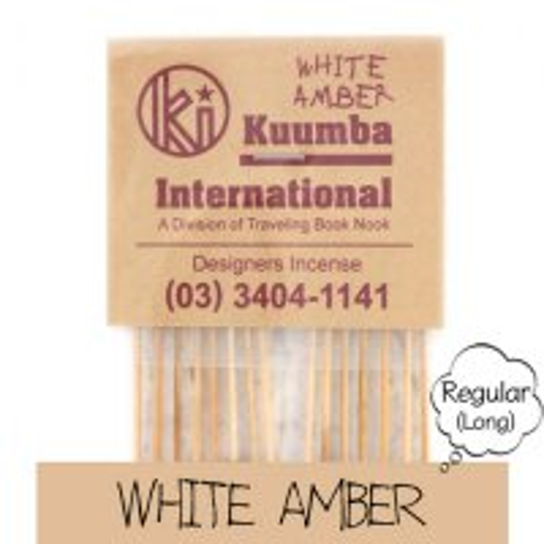 KUUMBA クンバ|INCENSE regular (WHITE AMBER)(お香 レギュラーサイズ)