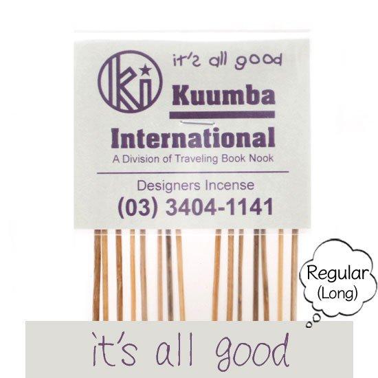 KUUMBA クンバ|INCENSE regular (it's all good)(お香 レギュラーサイズ)