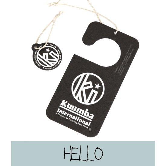 KUUMBA クンバ|PAPER FRESHENER (HELLO)(ペーパー カータグ)