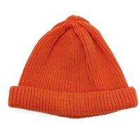RoToTo ロトト|COTTON ROLL UP BEANIE (オレンジ)(ニット帽 コットンニット)