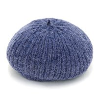 GO HEMP ゴーヘンプ|PREMICA BERET (ブルー)(ヘンプウール ベレー帽)