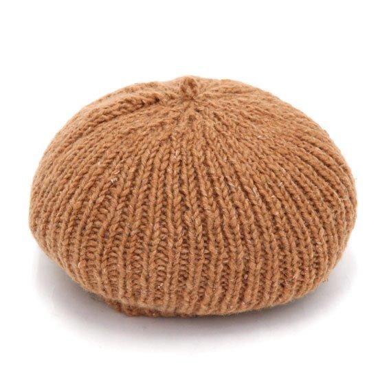 GO HEMP ゴーヘンプ|PREMICA BERET (オレンジ)(ヘンプウール ベレー帽)
