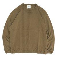 Jackman ジャックマン|JM5762 Rib Long Sleeve T-shirt (ライトブラウン)(ロンTEE)