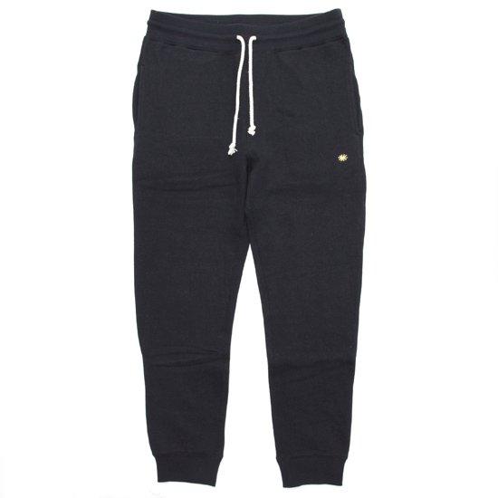GO HEMP ゴーヘンプ SLIM RIB SWEAT PANTS (ブラック)(スウェットパンツ)