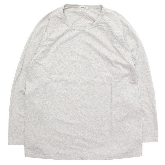 remilla レミーラ|ヒトエラグラン九分TEE (ホワイト杢)(ロンTEE)