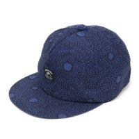 GO HEMP ゴーヘンプ|GOMA ART JACQUARD PANEL CAP (ブルー)(キャップ)
